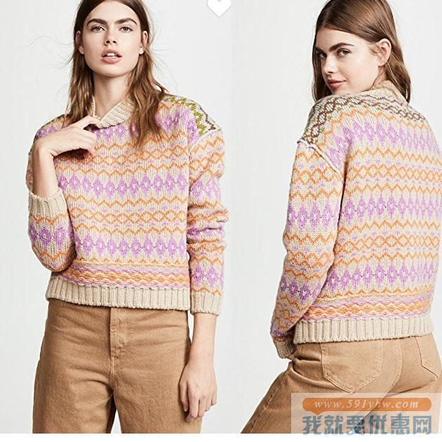 Acne Studios Fair Isle Sweater 羊毛毛衣 4折 直邮中国 USD$224(¥1389)